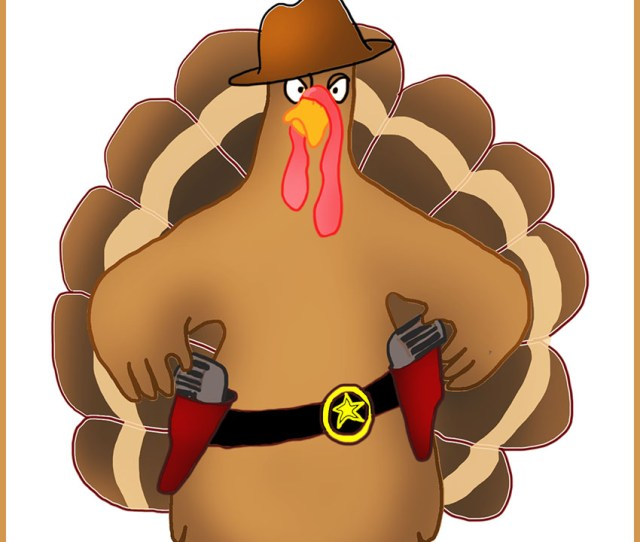 Thanksgiving Greeting Card With Funny Motive