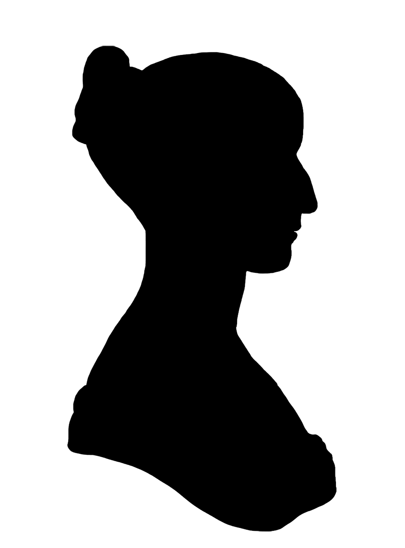 hight resolution of silhouette profile victorian woman png