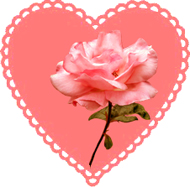Image result for valentine heart and rose