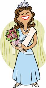 A Beauty Queen Winning A Competition Clipart Picture