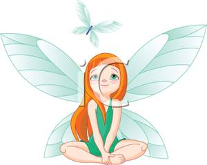 clipart fairy watching