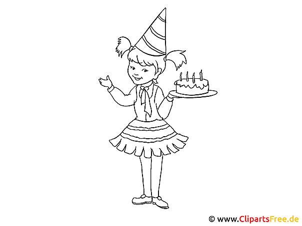 Geburtstag  Kinderbilder zum Ausmalen