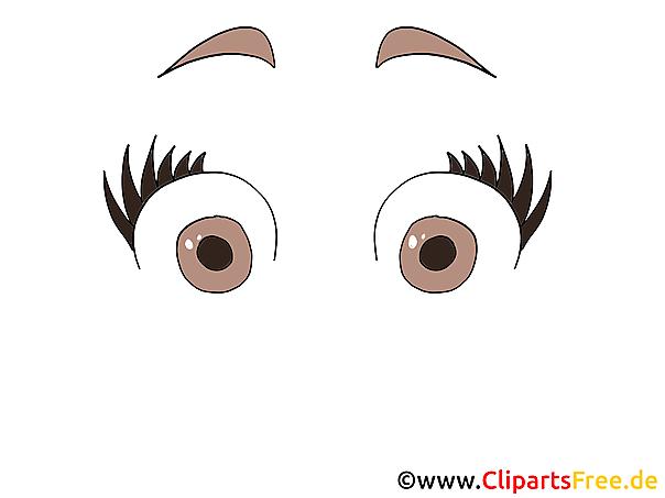 Erschrokene Augen Bild Clipart Cartoon