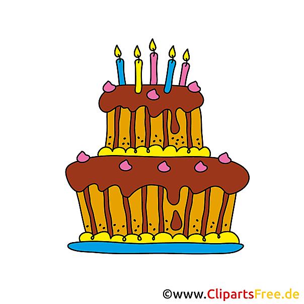 Clip Art zum Geburtstag  Geburtstagstorte Cartoon
