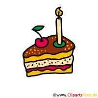 Torte zum Geburtstag Clipart Bilder kostenlos