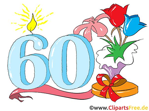 Zum 60 Geburtstag Clipart Glckwunsch Einladung