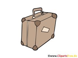 Reisekoffer Bild, Clipart, Illustration, Grafik, Zeichnung ...