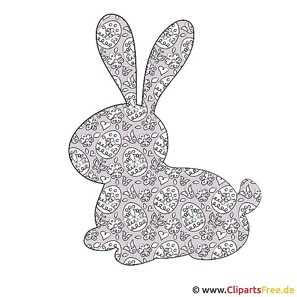 Silhouette Hase - Bild zu Ostern