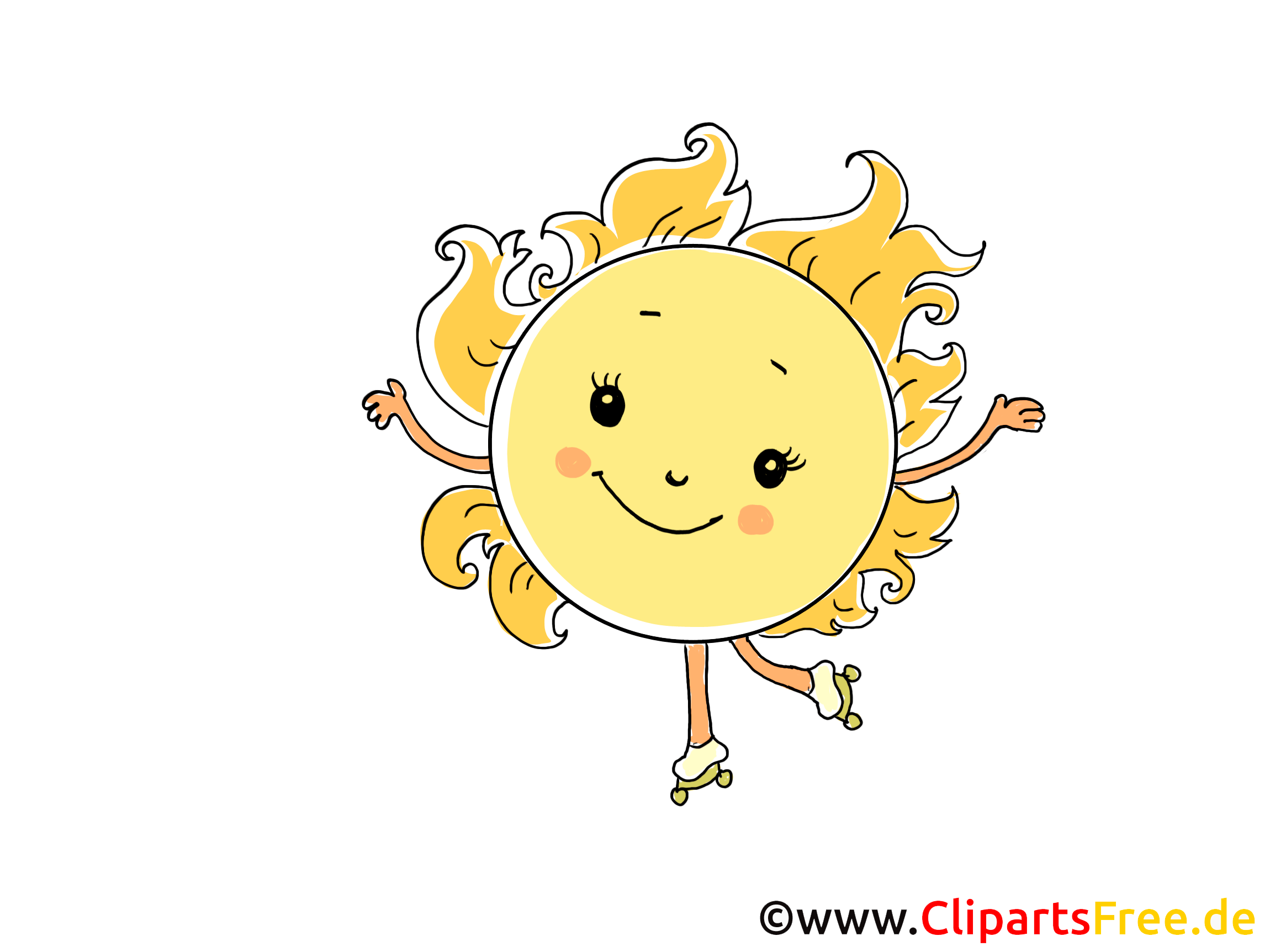 Sonne Comic Cartoon Clipart Bild