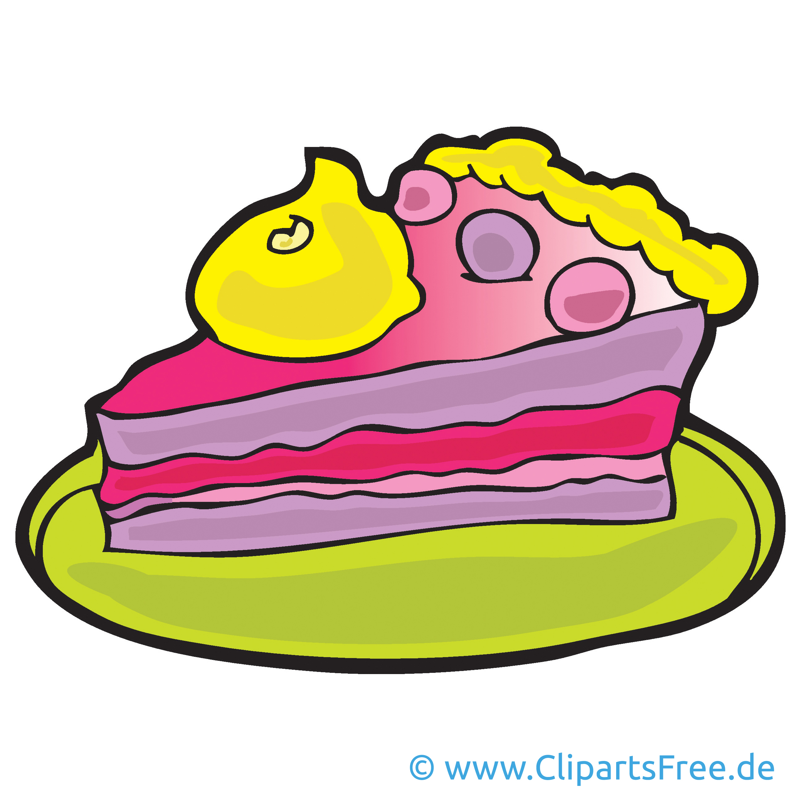 Torte Bild Cartoon Clipart Grafik Illustration