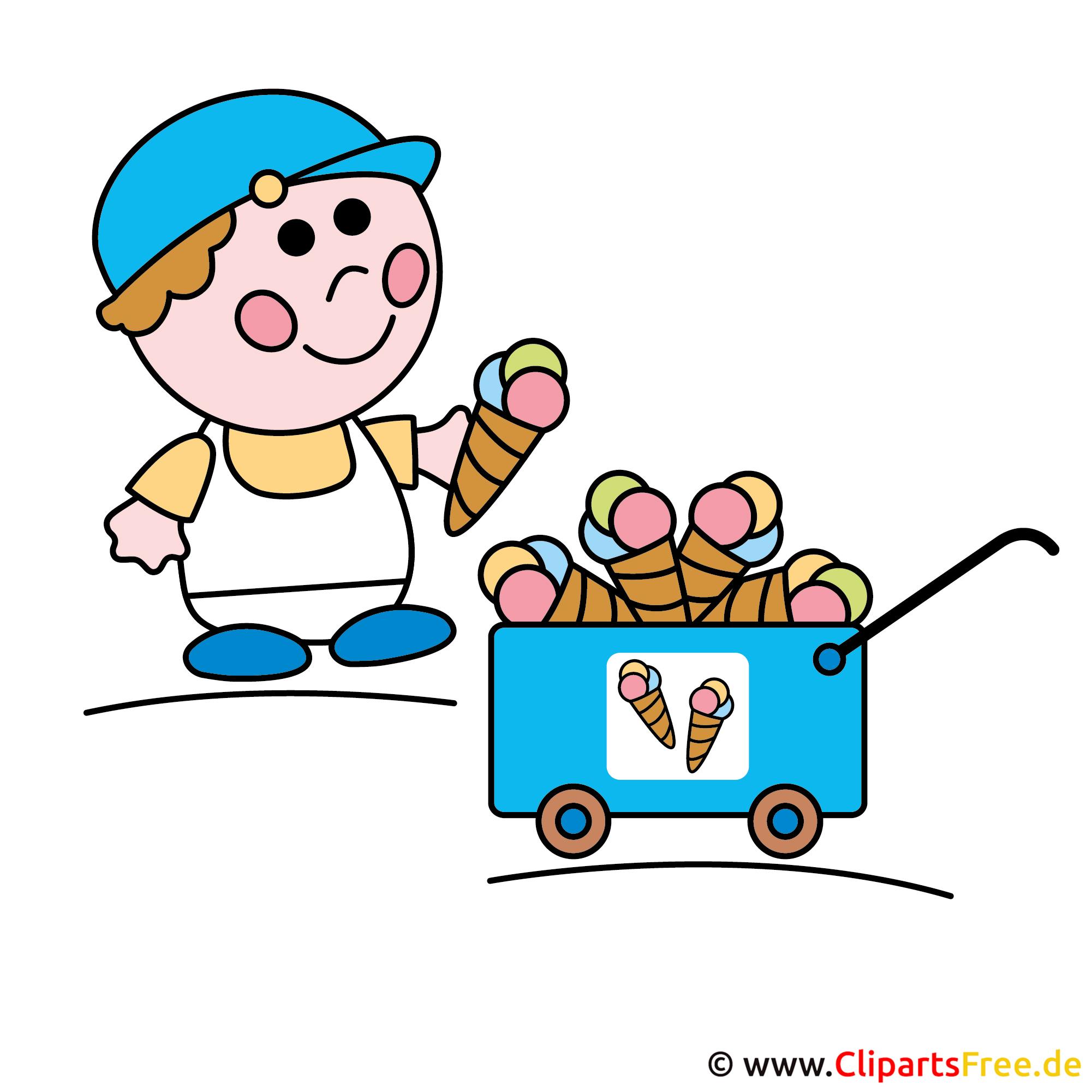 Eisverkufer Clipart Eiswagen Bild Cliparts