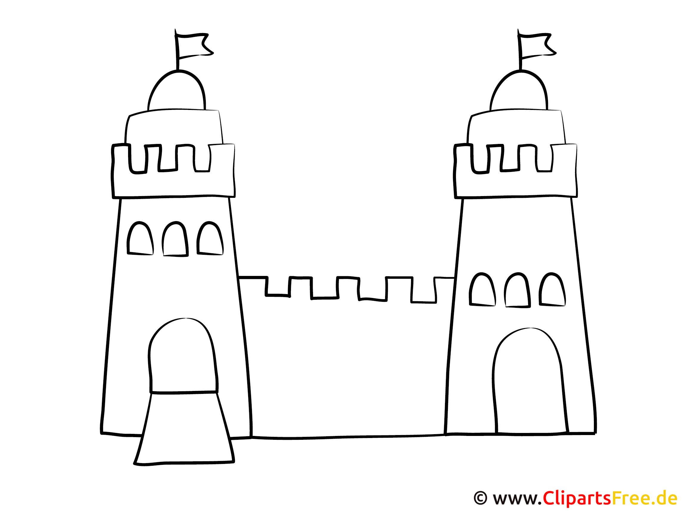 Ausmalbild Burg
