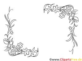 Blumenranken zum Ausmalen Bild