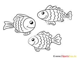 Fische Ausmalbilder gratis
