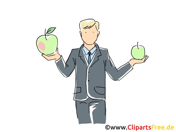 Arbeitgeber Clipart Grafik Bild Cartoon