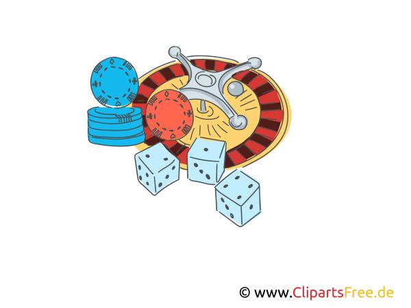 Roulette Spielen Illustration Clipart Comic