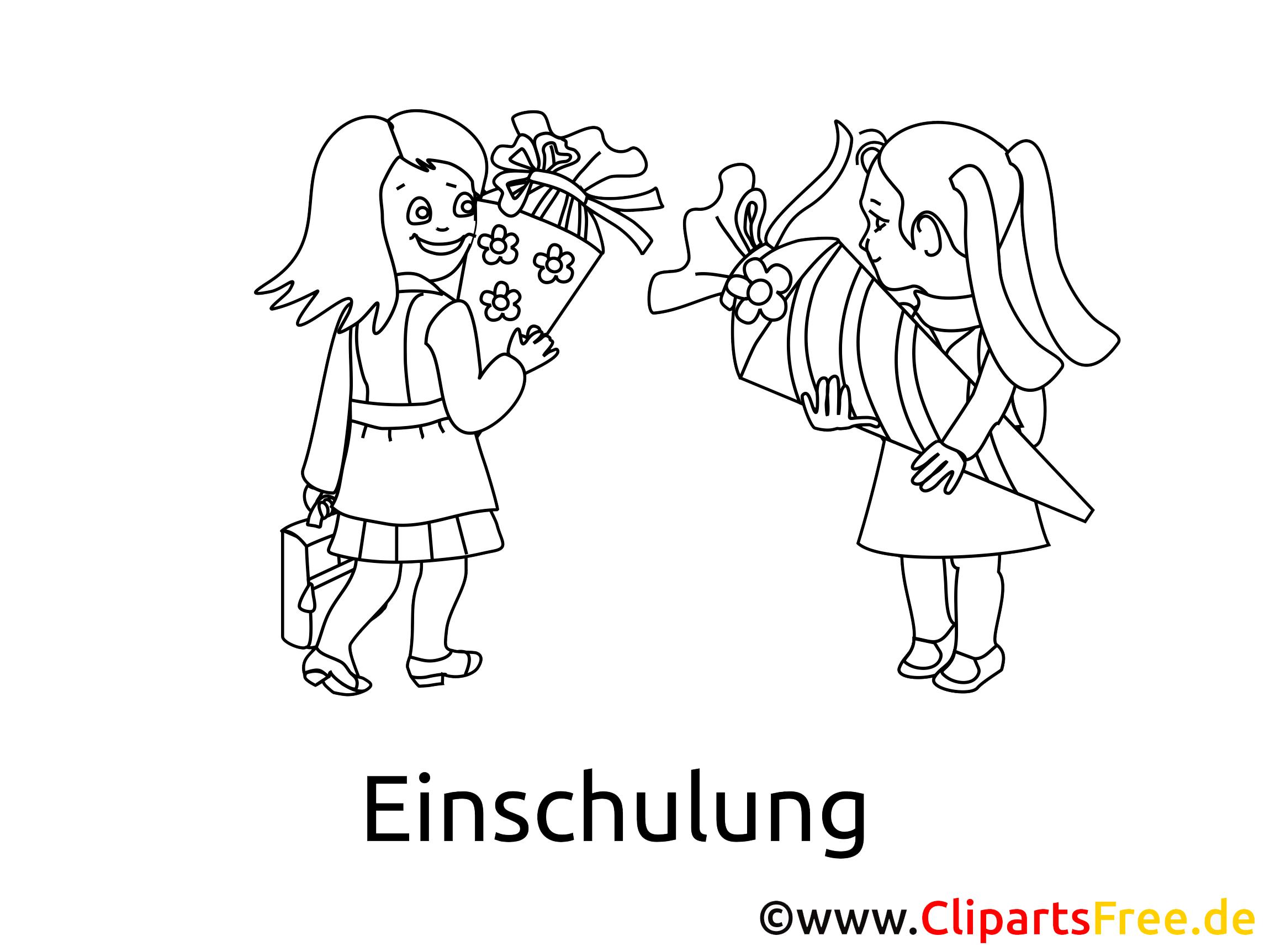 Kinderbilder zum Ausmalen zur Einschulung