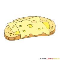 Cliparts Essen und Trinken   Käse und Brot