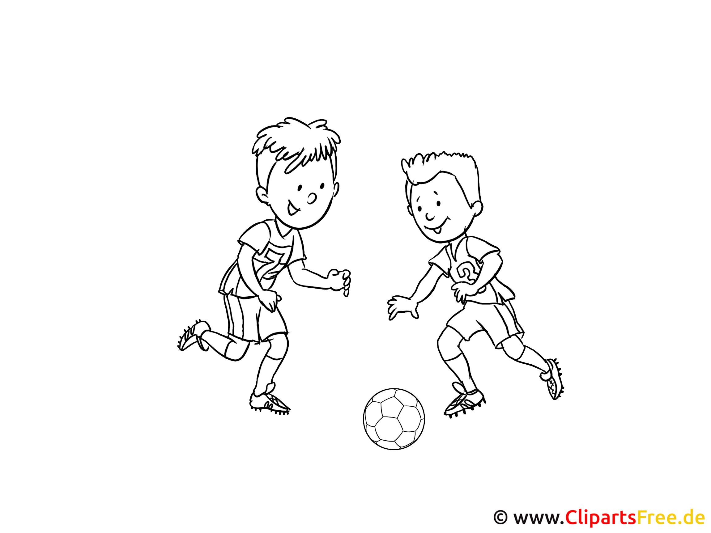 Fußball Ausmalbilder zum Drucken gratis