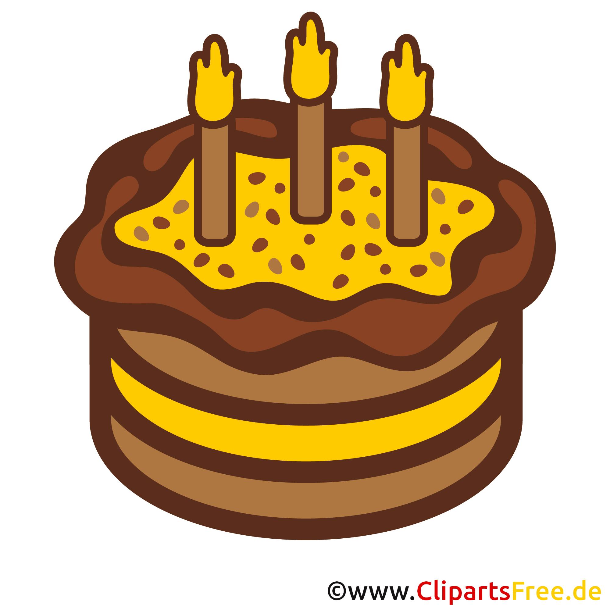 Clipart zum Geburtstag  Kuchen zum 3 Geburtstag