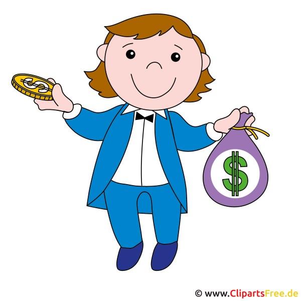Clipart Menschen Kostenlos - Broker Mit Geld