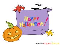 Witziger Krbis Clipart, Bild, Cartoon zu Halloween