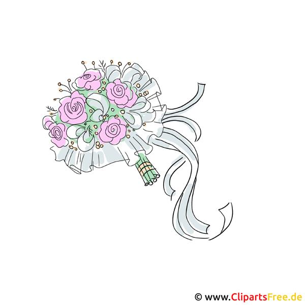 Blumenstrau Clipart zur Hochzeit