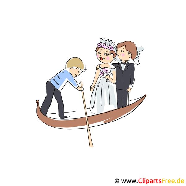 Gondel Clipart Bilder zu Hochzeit
