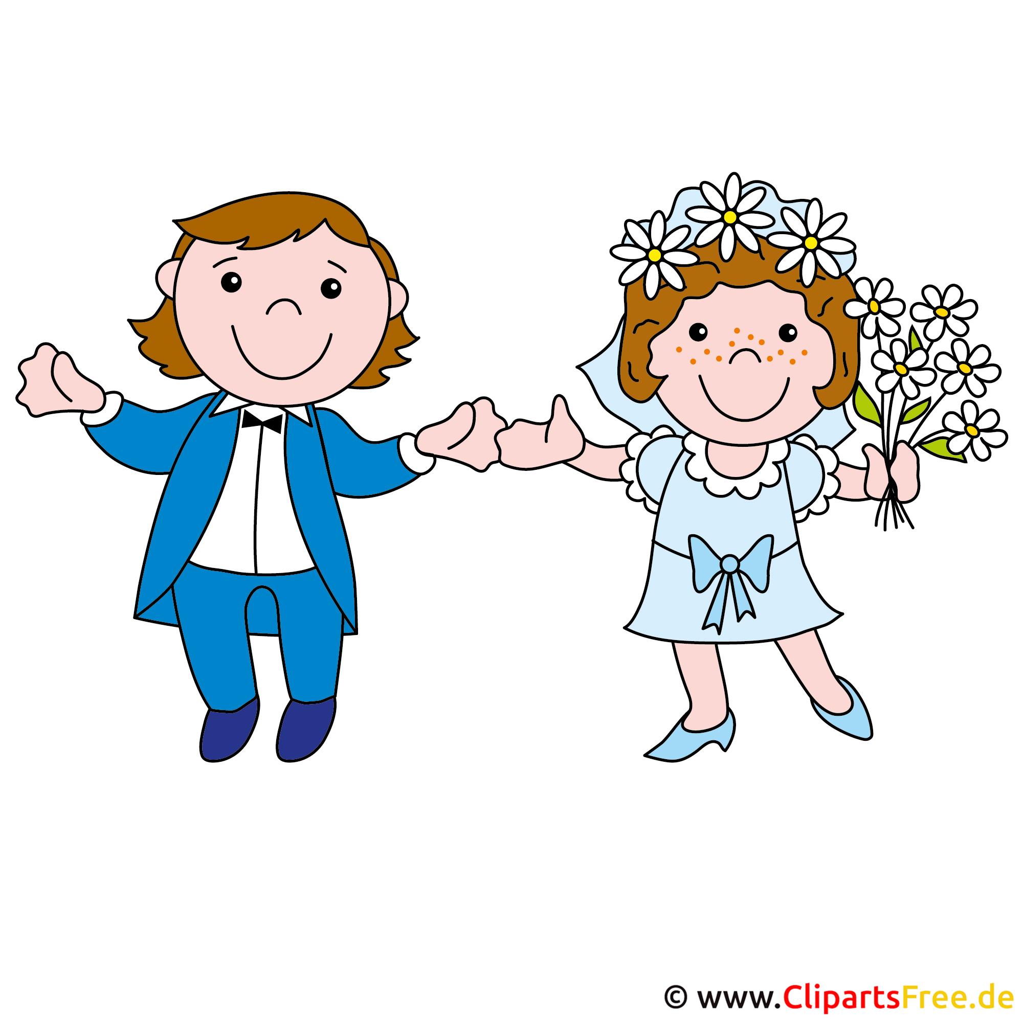 Hochzeit Cartoon Brautpaar
