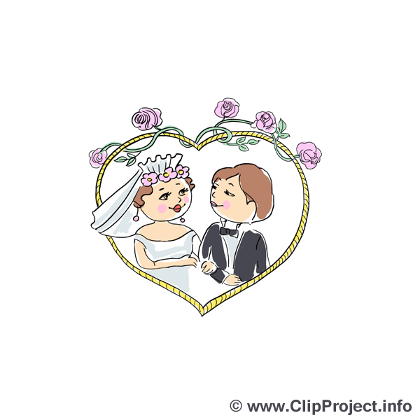 Hochzeit Clipart fr Einladungen