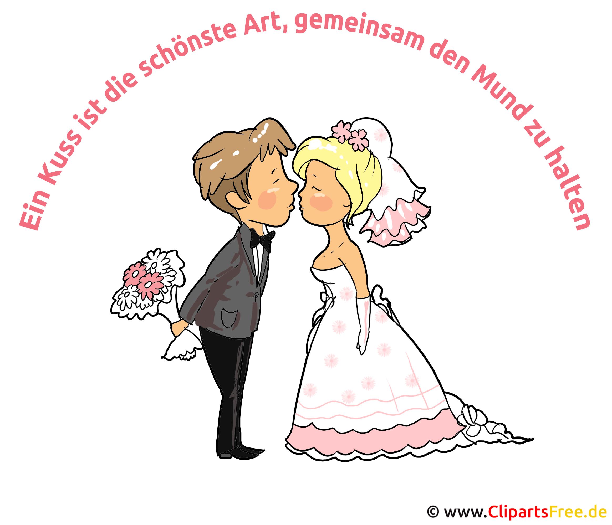 Hochzeit Spruch  Ein Kuss ist die schoenste Art