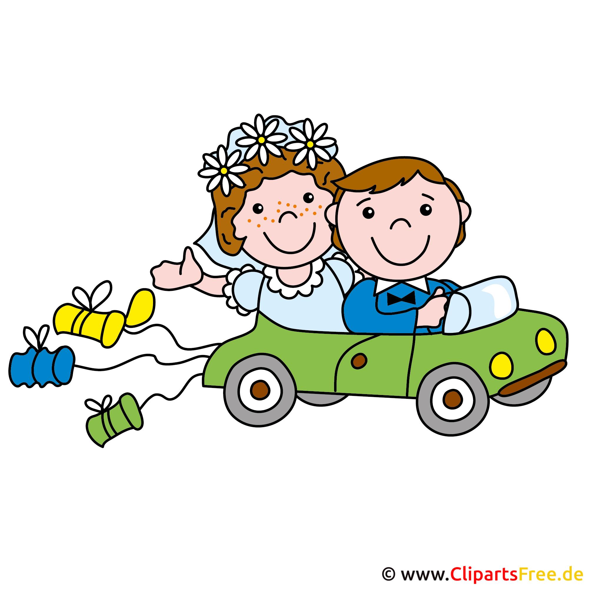 Limousine zur Hochzeit Clipart free