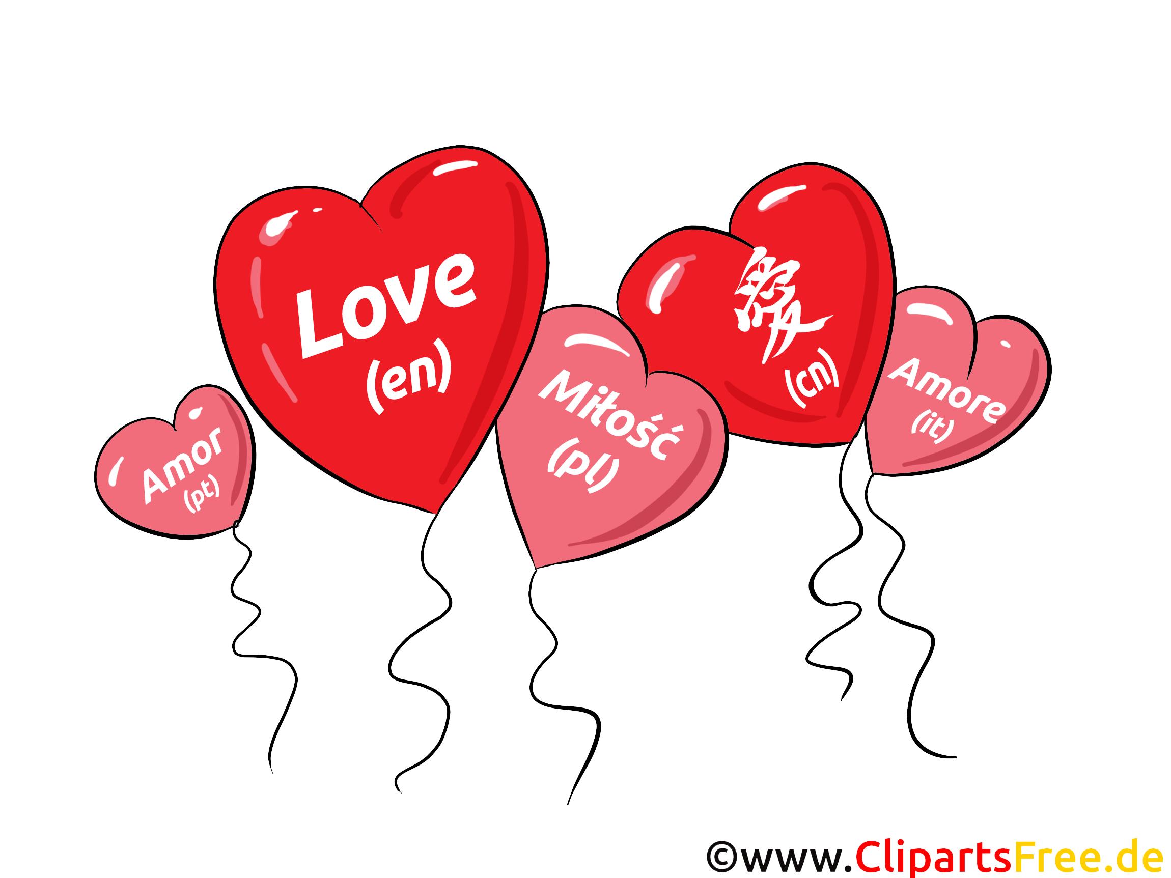 Liebe in verschiedenen Sprachen  Chinesich Englisch
