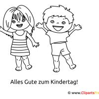Lustige Bilder mit Kindern zum Ausmalen
