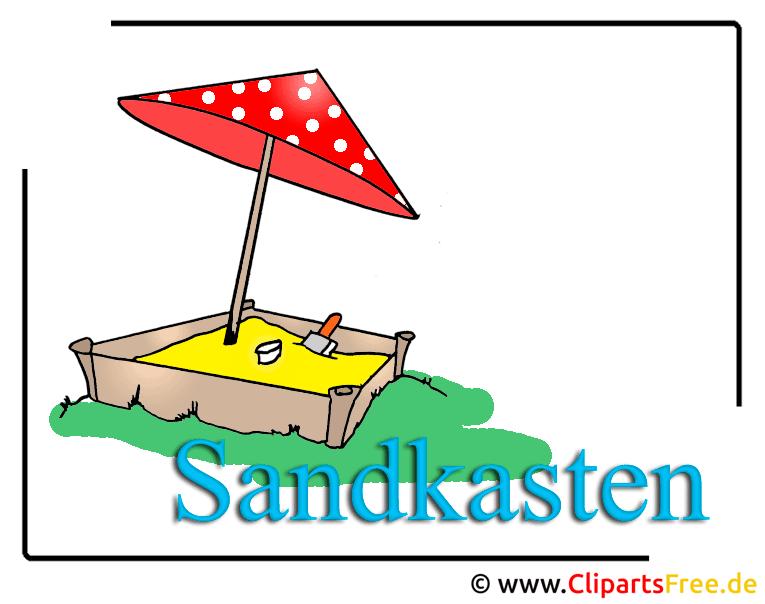 Sandkasten Clipart free  Kindergarten Bilder