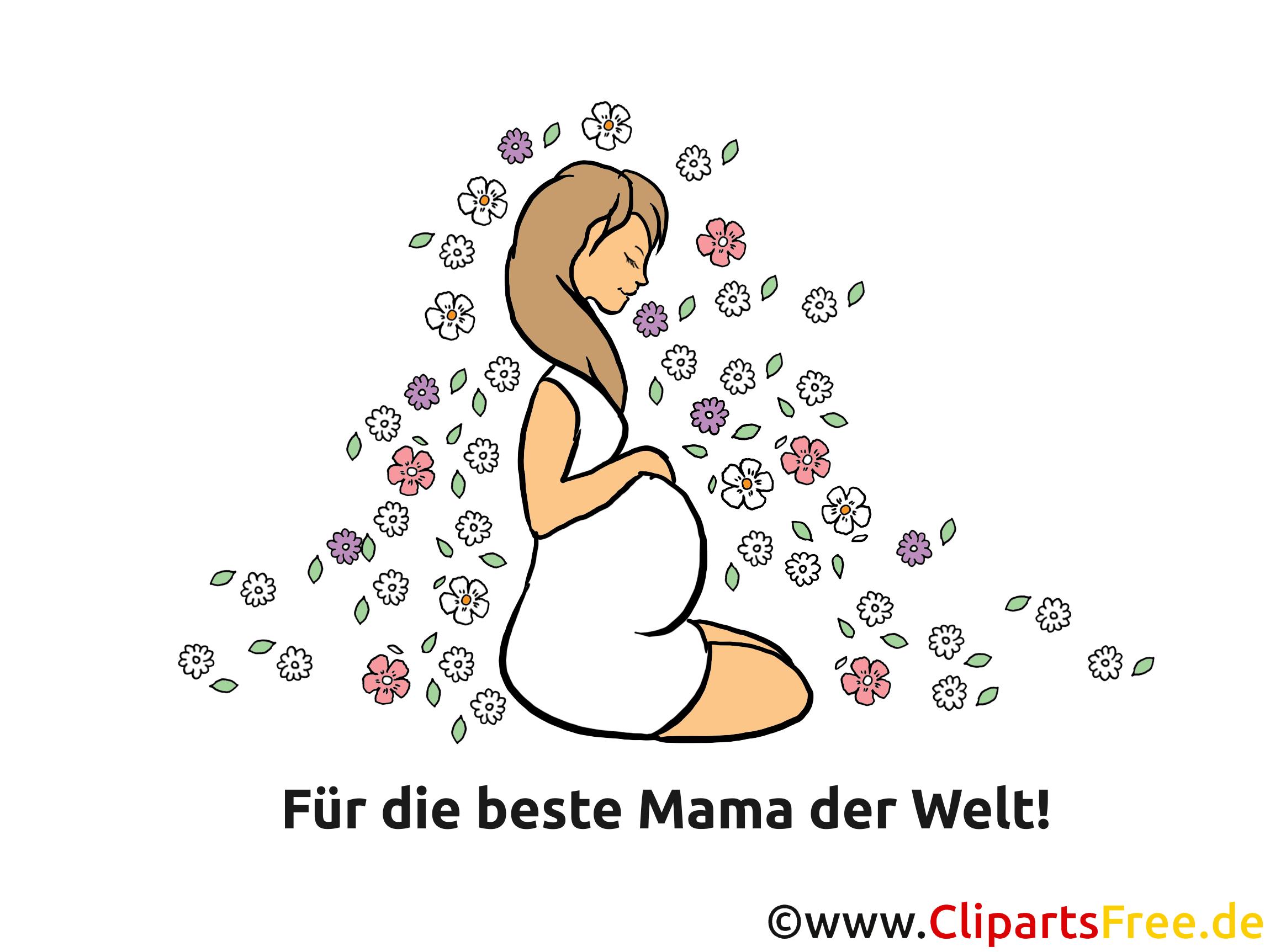 Glckwunschkarte zur Geburt  Fr beste Mama der Welt