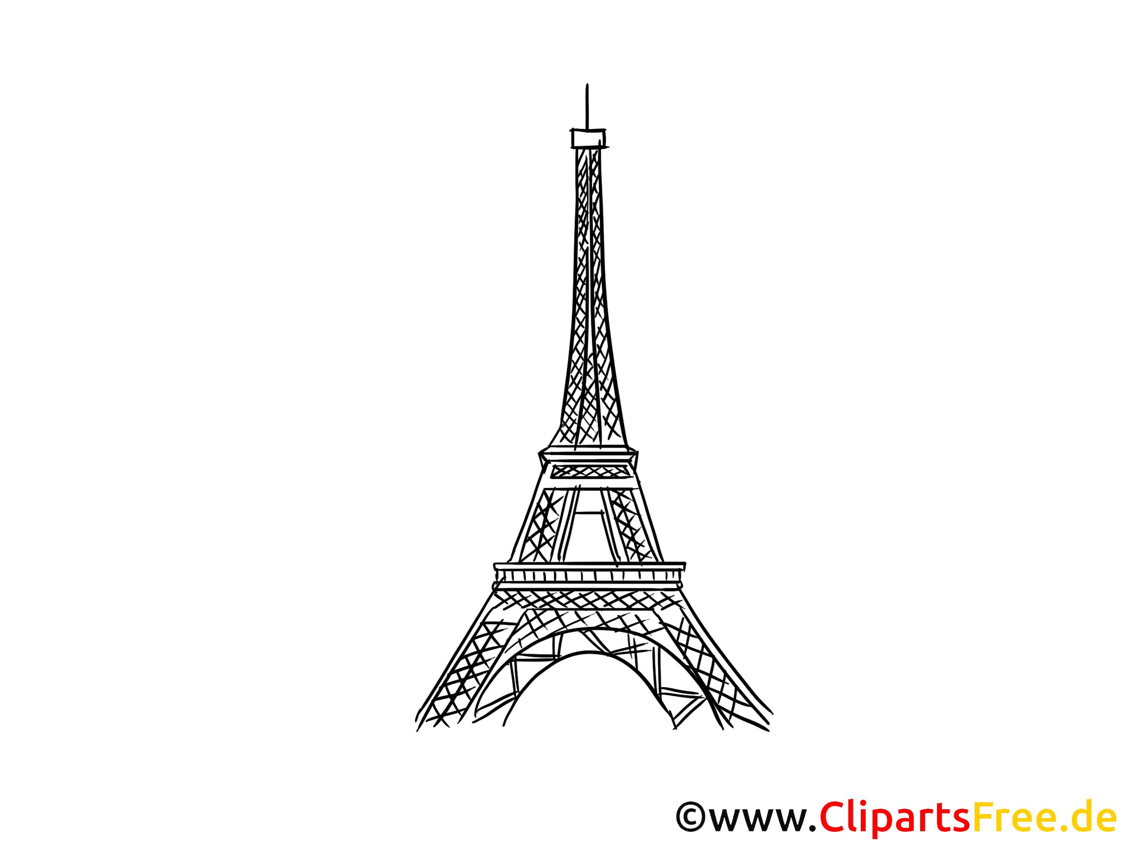 Eifelturm In Paris Bild Zeichnung Clipart Gratis