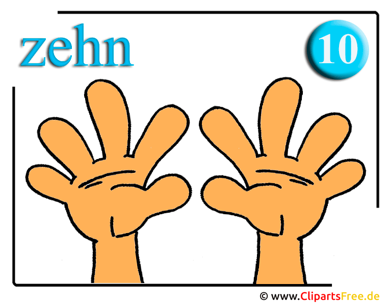 Zehn Finger Clipart fr Mathe