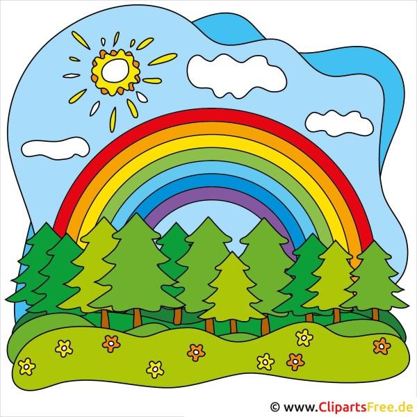 regenbogen clip-art kostenlos