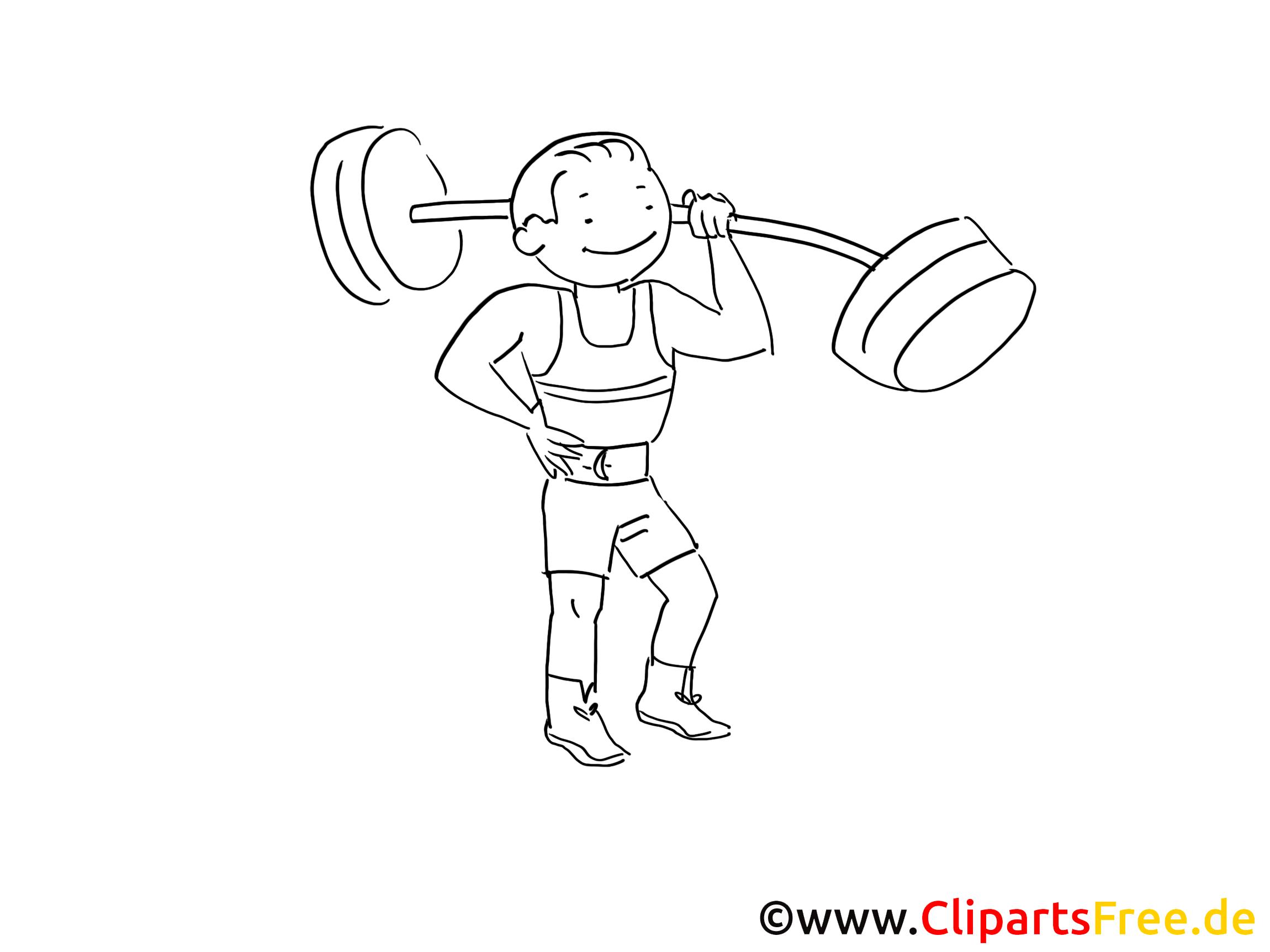 Fitness Bild Grafik Clipart