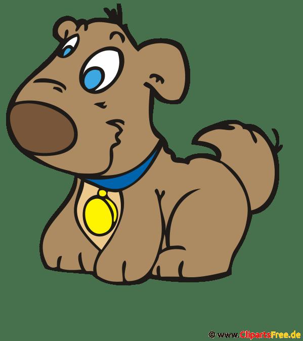 Lachender Hund Cartoon