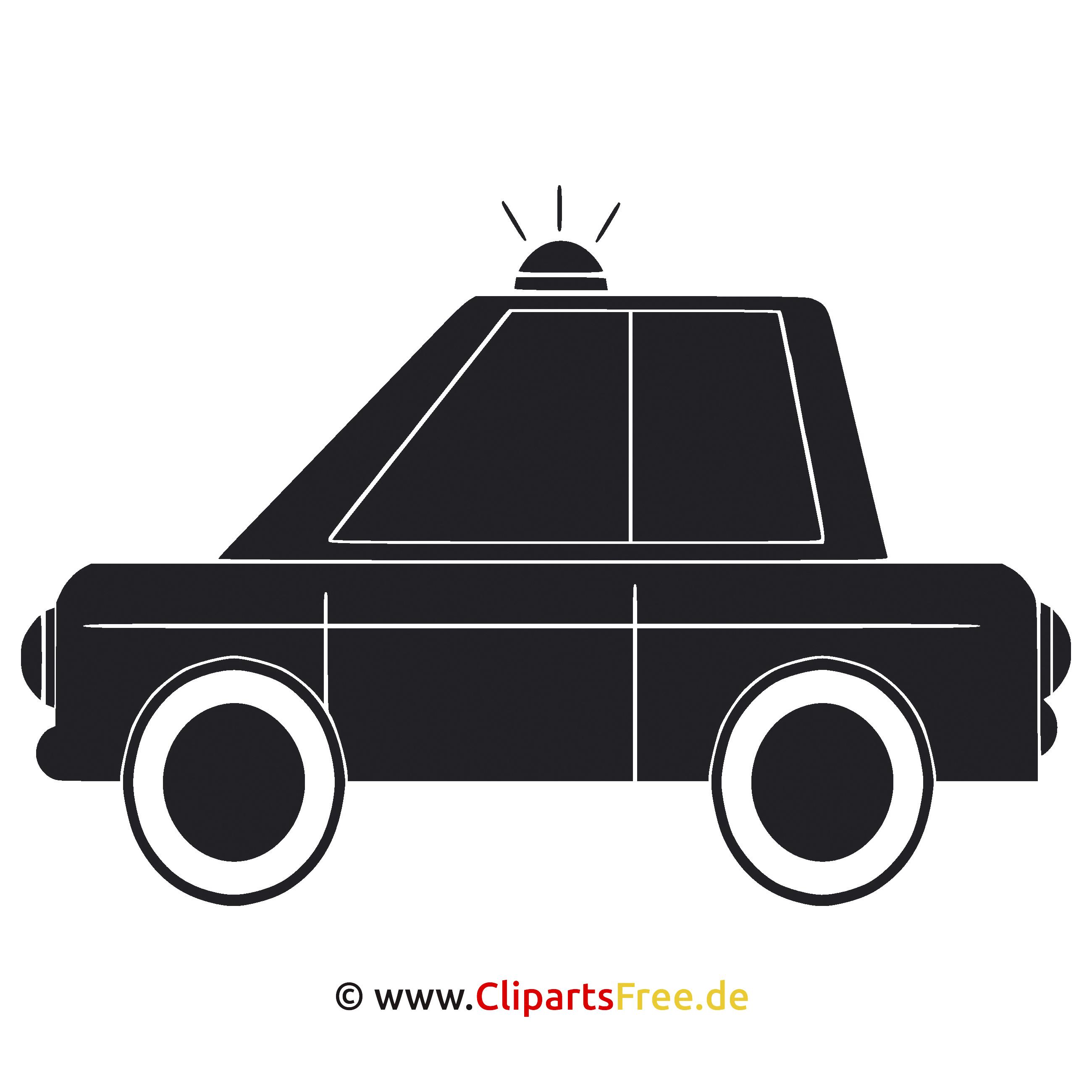 Polizei Auto Clipart  SVG Graphics