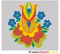 Blumen Kreuzstichvorlagen Bilder Cliparts Gifs Illustrationen Grafiken kostenlos