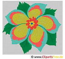 Blumen Kreuzstichvorlagen Bilder Cliparts Gifs Illustrationen kostenlos