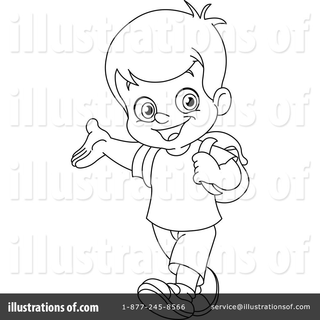 School Boy Clipart Black And White 4 Clipart Station