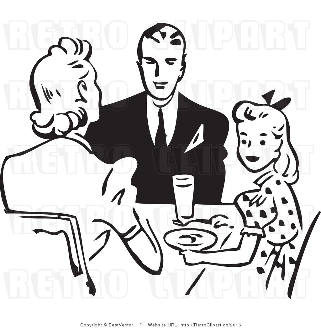 Eating Dinner With Mom Clipart