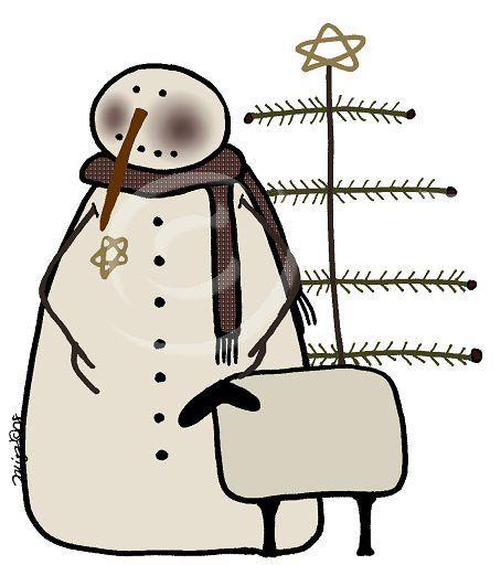 primitive christmas clipart