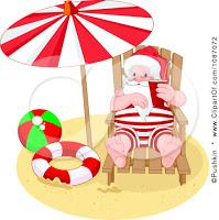 beach christmas clipart