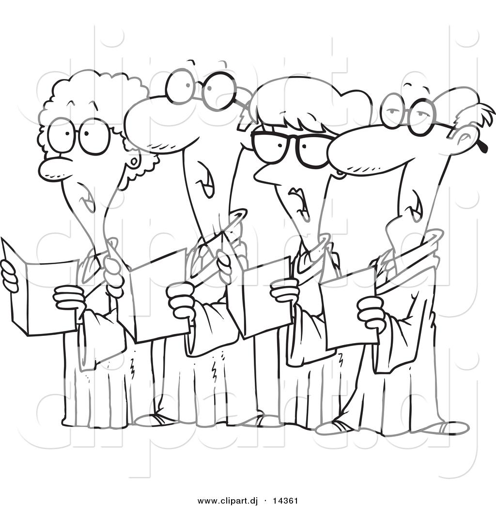 Black Male Choir Clipart