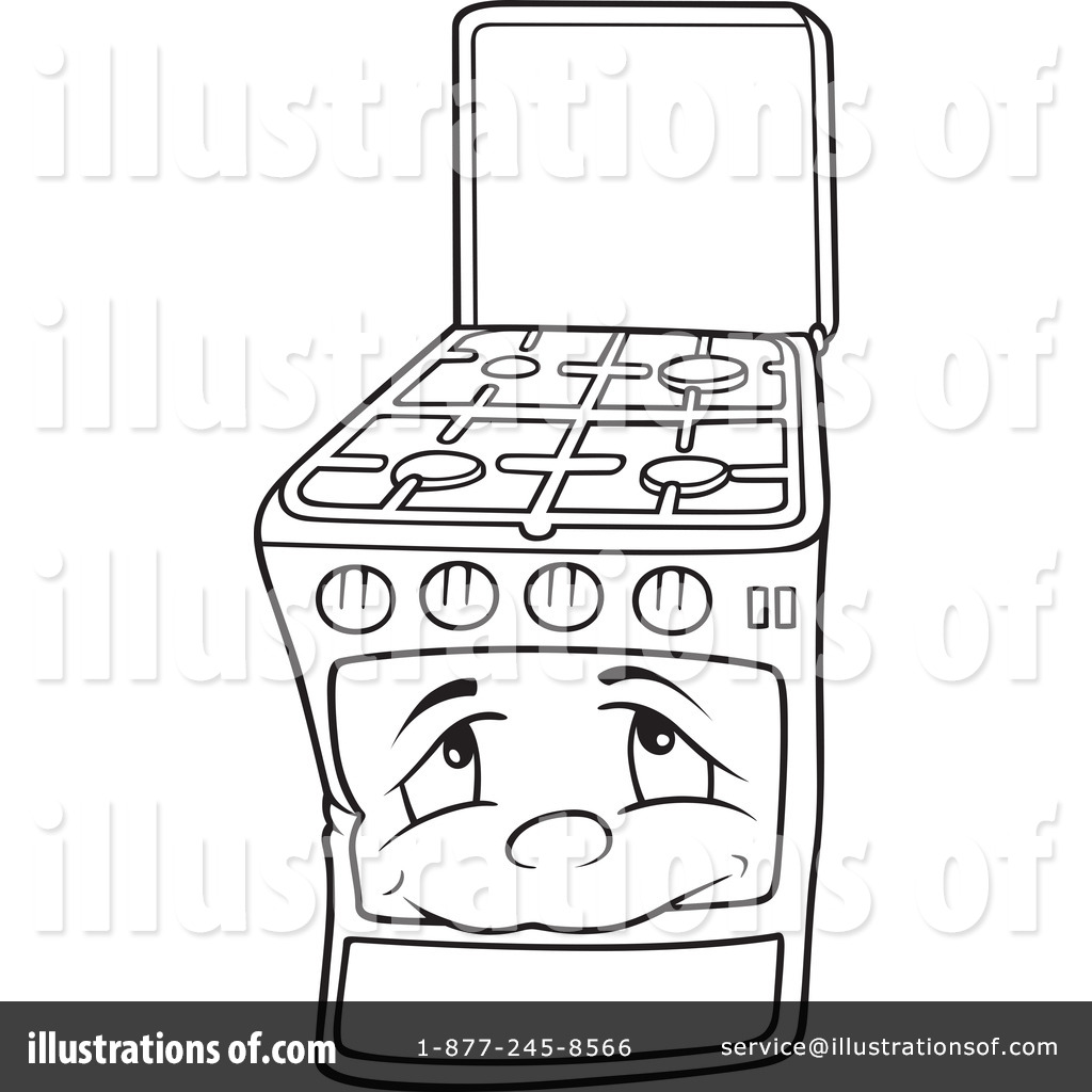Toaster Oven Burns Clipart